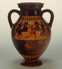 Амфора. Амасис. Чернофигурная роспись. Около 540-е гг. до н.э.