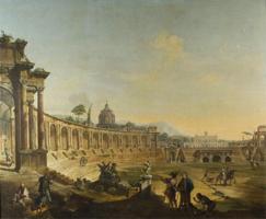 Развалины амфитеатра (Франческо Баттальоли, 2-я пол. XVIII в.)