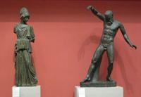 Афина и Марсий (Мирон. Римская копия. Мрамор. II четверть V в. до н.э.)