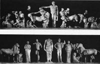 Фронтоны храма Зевса в Олимпии. Мрамор. V в. до н.э