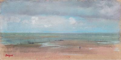Морской ландшафт с песчаным пляжем во время отлива (Э. Дега, 1869 г.)