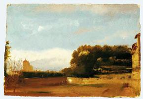 Итальянский пейзаж (Э. Дега, ок. 1856-1858 г.)