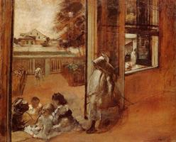 Дети на пороге (Э. Дега, 1872 г.)
