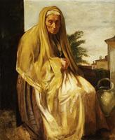 Старая итальянка (Э. Дега, 1857 г.)