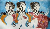 Дамы в голубом (Фреска Кносского дворца)