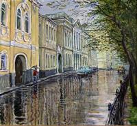 Дождь на бульваре (В.Качанов)