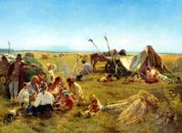 Крестьянский обед во время жатвы (К. Маковский. 1871 г.)