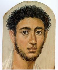 Портрет молодого человека (Фаюмские портреты. 125-150 гг.)