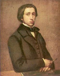 Эдгар Дега (Автопортрет, 1854-1855 г.)
