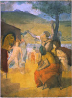 Александр и Буцефал (Э. Дега, ок 1859-1861 гг.)