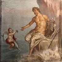 Полифем, получающий письмо от Галатеи. Помпеи, Древний Рим, 45-79 гг