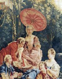 Дама с китайским зонтиком (Ф. Буше, 1740 г.)