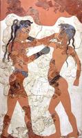 Боксирующие мальчики. Фреска с острова Санторини