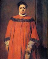 Девушка в красном (Э. Дега, ок. 1866 г.)