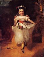 Девочка, несущая цветы в фартуке (Э. Дега)