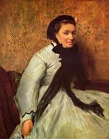 Портрет дамы в сером (Э. Дега, 1865 г.)