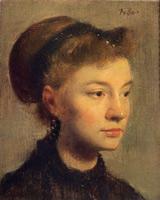 Портрет молодой женщины (Э. Дега, 1867 г.)