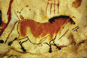 Лошадь. Пещерная живопись