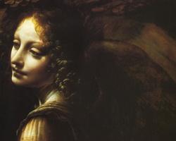 Мадонна в гроте (фрагмент, лик ангела Уриила)