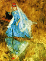 Мадемуазель Фиокр в балете «Источник»