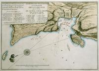 Карта истребления турецкого флота в Чесменской бухте