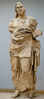 Мавсол. Статуя мавзолея в Галикарнасе. Греция