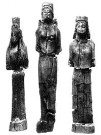 Ксоаноны. Дерево. Конец VII в. до н.э. Сиракузы, Национальный музей