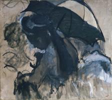 Леди с пляжным зонтиком (Э. Дега, 1870-1872 гг.)