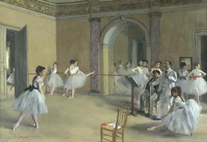 Танцевальный класс в Опере на улице Ле Пелетье (Э. Дега, 1872 г.)