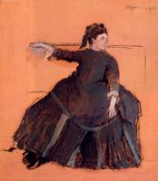 Женщина на диване (Э. Дега, 1875 г.)