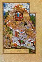 Тиран Заххак, закованный в цепи Фариданом (Султан Мухаммед)