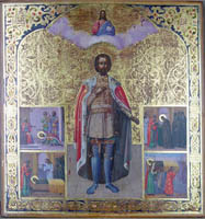 Св. Александр Невский со сценами жития (Россия, XIX в.)