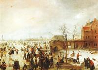 Сцена на льду у башни (Хендрик Аверкамп)