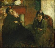 Портрет мадам Лисл и мадам Лубенс (Э. Дега, 1866-1870 гг.)
