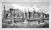 Вид на Питтсбург (Литография с размывкой. 1889 г.)