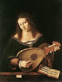 Святая Цецилия, играющая на лютне (Б. Венето)