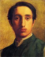 Дега в зеленом жакете (Э. Дега, 1855-1856 гг.)
