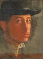Автопортрет (Э. Дега, 1857-1858 г.)