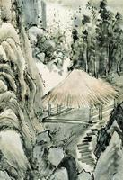 Водопад в Мино. Икэ-но Тайга