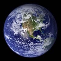 Изображение планеты Земля из космоса