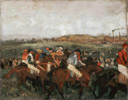 Жокеи перед стартом (Э. Дега, 1862 г.)