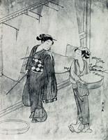 Сушка нитей (Сузуки Харунобу)