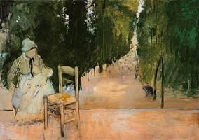 Няня в Люксембургском саду (Э. Дега, ок. 1875 г.)