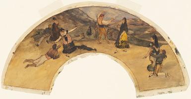 Испанские Танцоры и Музыканты (Э. Дега, 1868-1869 гг.)