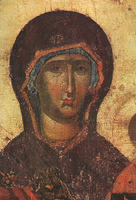 Богоматерь Одигитрия (Икона, конец XIV - начало XV в.)
