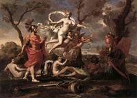 Венера передает Энею оружие выкованное Вулканом (Никола Пуссен. 1639 г.)