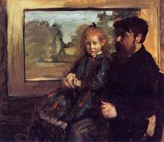 Анри Руар и его дочь Элен (Э. Дега, 1871-1872 гг.)