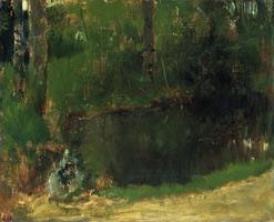 Пруд в лесу (Э. Дега, 1867-1868 гг.)