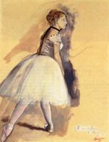 Стоящая танцовщица (Этюд, Э. Дега, 1872 г.)
