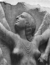 Рождение Афродиты (Фрагмент. 475-450 гг. до н.э. Рим. Музей Терм)